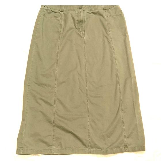 6047999c60 Eddie Bauer Skirts | Olive Green Long Skirt Size 18 | Poshmark